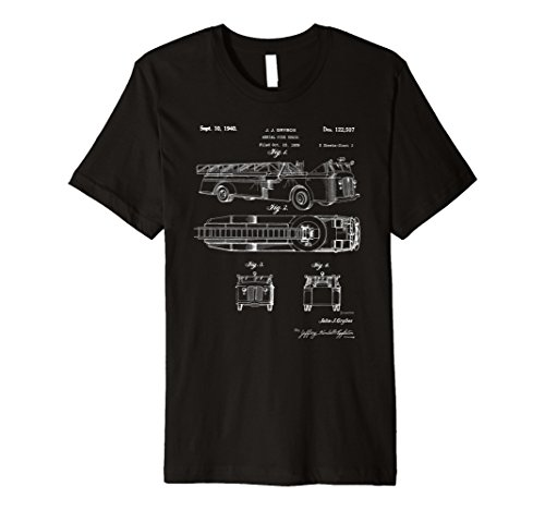 Vintage Patent Print 1940 Aerial Fire Truck T-Shirt
