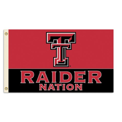 NCAA Texas Tech Red Raiders 3-by-5 Foot Flag With ()