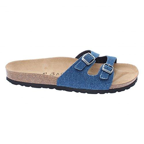 Backsun - Tongs / Sandales - Maldives Homme Bleu Jean Semelle Noire - Bleu