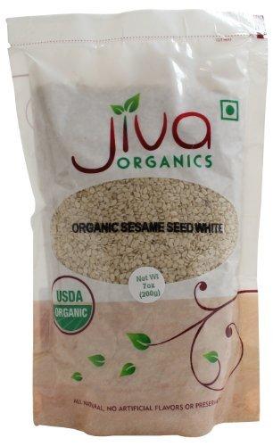 Jiva Organics White Sesame Seeds -- 7 oz by Jiva