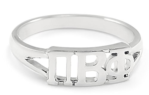 Sterling silver Pi Beta Phi ring with cut-out letters size 7