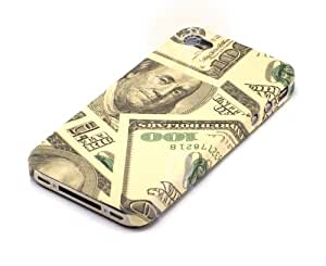 """""""Único"""" Dólar, Cubierta de plástico & """"Desire"""" Azul, Funda de tacto suave - para iPhone 4. Paquete único de Cubierta / Estuche / Carcasa / Funda para iPhone 4 & Auténtico estuche de tacto suave para iPhone 4."""