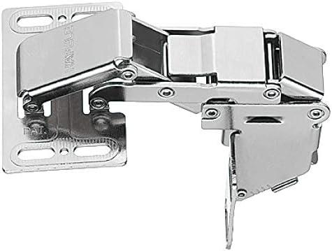 Gedotec Türscharnier Küchen-Schrank Hochklappscharnier CH 600 Klappen-Scharnier mit SOFT-CLOSE Dämpfung | Möbelscharnier für Anschlag mit Blende | Stahl vernickelt | 1 Stück - Scharnier verstellbar