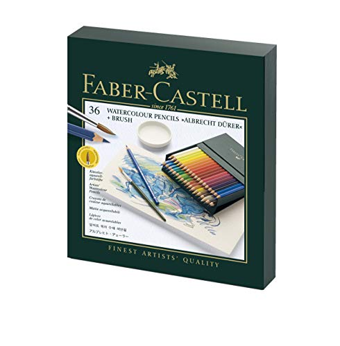 Faber-Castell Albrecht Durer Watercolor Pencil Studio Gift Set, Box of 36 Colors (FC117538) (Gift Studio Box)