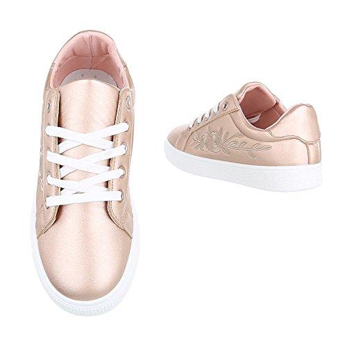 Ital-Design - Zapatillas de casa Mujer Rosa Gold 6732-Y