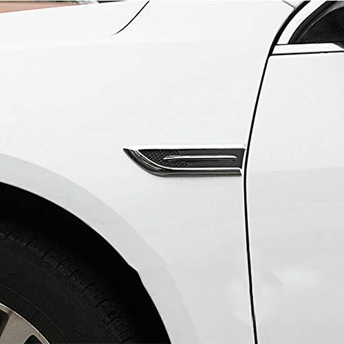 Romsion Accesorios de Vehiculos Cubierta Lateral del Coche Campana Entrada de Aire Flujo de ventilaci/ón Anticolisi/ón Protector Tibur/ón Gills Decoraci/ón Pegatinas