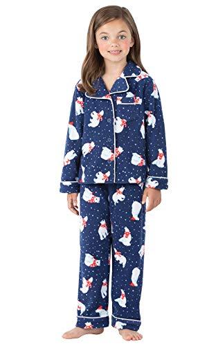 PajamaGram Polar Bear Fleece Girls Pajamas 12