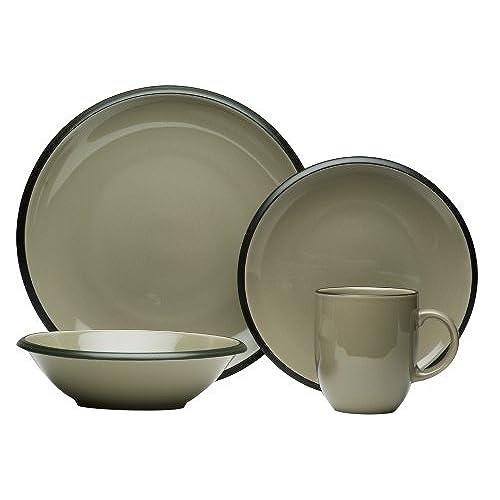 Red Vanilla H&shire Grey 16-Piece Dinnerware Set  sc 1 st  Amazon.com & Discount Dinnerware: Amazon.com