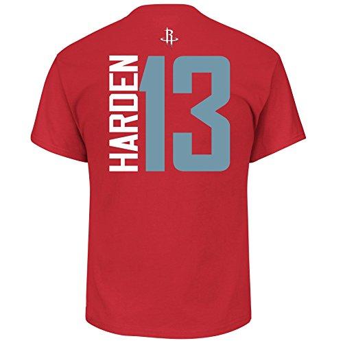 James Harden Houston Rockets #13 Men's Vertical Player Name & Number T-Shirt (Large)