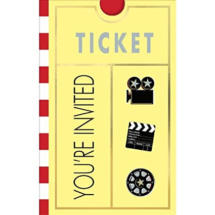 amazon com movie ticket invitations 8ct toys games