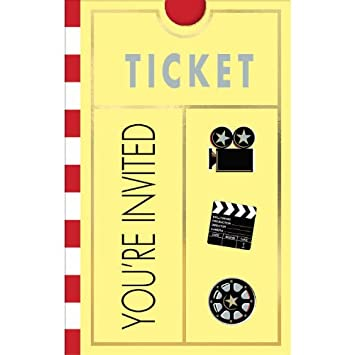 Amazon.com: Movie Ticket Invitations 8ct: Toys & Games