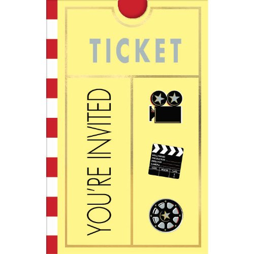 Movie Ticket Invitations, 8ct -