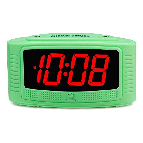 DreamSky Digital Alarm Clock with Snooze, 1.2 Inch Clear Led Digit Display with Dimmer, Simple Operate, Plug in Clock for Bedroom.