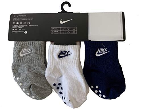 Nike Baby Boys' Core Future Gripper Socks 3 Pair 6-12 Months