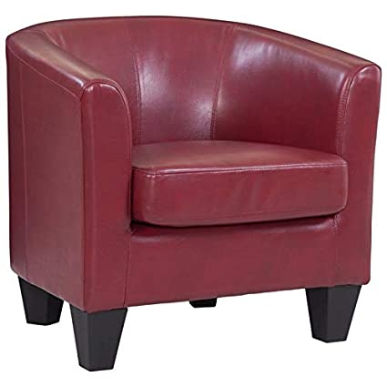 Peachy Grafton 1572 01 L02 Joseph Faux Leather Barrel Chair One Size Red Unemploymentrelief Wooden Chair Designs For Living Room Unemploymentrelieforg