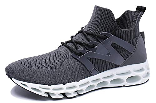 Herren Mode Atmungsaktiv grey 3 Sneaker Rutschfeste Fitness Laufschuhe Sportschuhe Wonesion p4qZwT4
