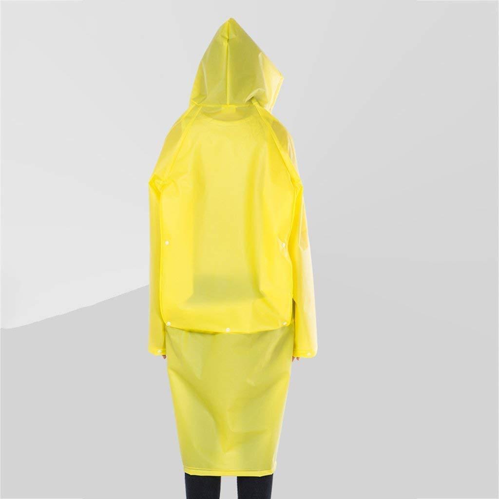 jaune Medium KLEDDP Imperméable imperméable Ensemble Costume Adulte et équipeHommest de Voyage en Plein air réutilisable pour Adultes Poncho de Pluie imperméable (Couleur   blanc, Taille   M)