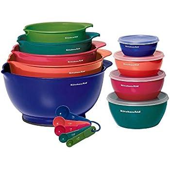 Amazon Com Kitchenaid 5pc Mixing Bowls Measuring Cups Spoons