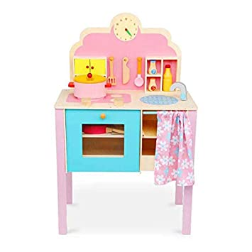 c7d978f75c97 Onshine Large Wooden Kitchen Playset Toy Cooking Set Unit Children Kids  Girls Gift Toddler DIY Role