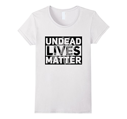 Womens Funny Halloween Costume Ideas 2017 Undead Shirt Large White