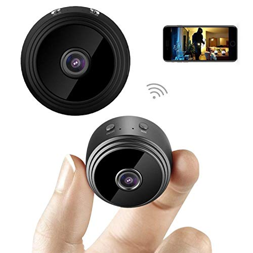 (Mini Spy Camera, Wireless, Hidden Spy Camera High Def, HD 1080P with WiFi, Small & Hidden Security Camera/Nanny Cam, Built-in Battery,Motion Detector and Night Vision for iPhone,Tablets,PC/Mac)