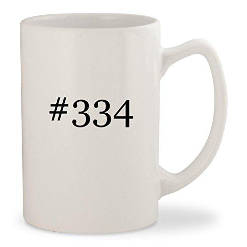 #334 - White Hashtag 14oz Ceramic Statesman Coffee Mug Cup