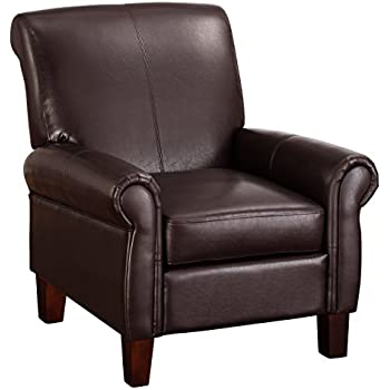 leather club chair recliner living elegant red chairs for sale uk