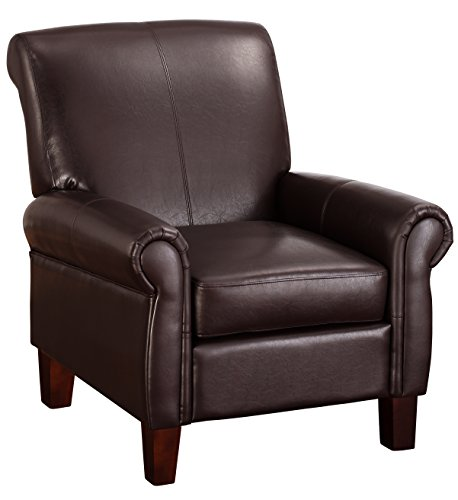 dorel living elegant faux leather club chair