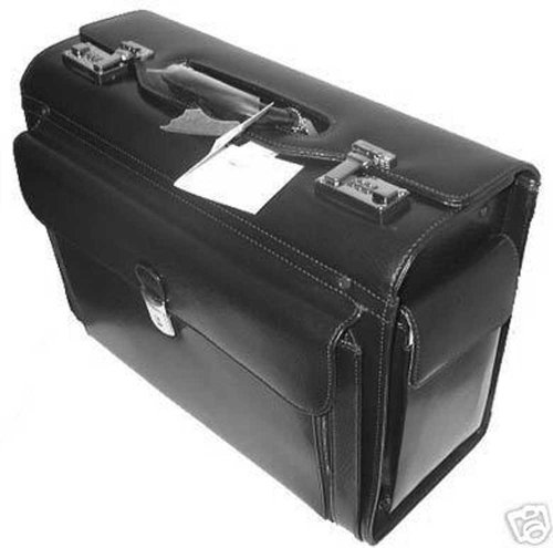 Mancini Black Lawyer/litigator Leather Catalogue Briefcase by Mancini-Canada