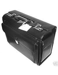 Mancini Black Lawyer/litigator Leather Catalogue Briefcase