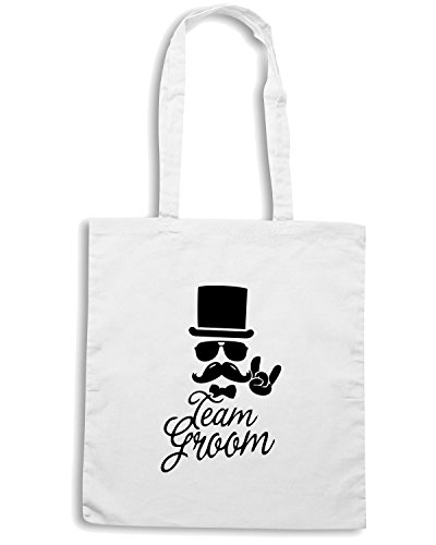 La T Groom Para Blanco Maglietta Team Compra shirtshock Bolsa Mat0062 Moustache CBBtSwqx