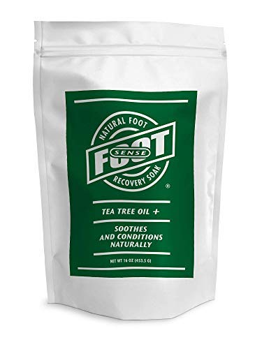 FOOT SENSE NATURAL FOOT RECOVERY SOAK - 16 oz - Naturally Soothes and Conditions Dry Tired Feet - Tea Tree Oil