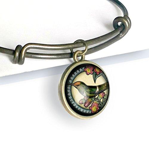 Hummingbird adjustable charm bracelet ()