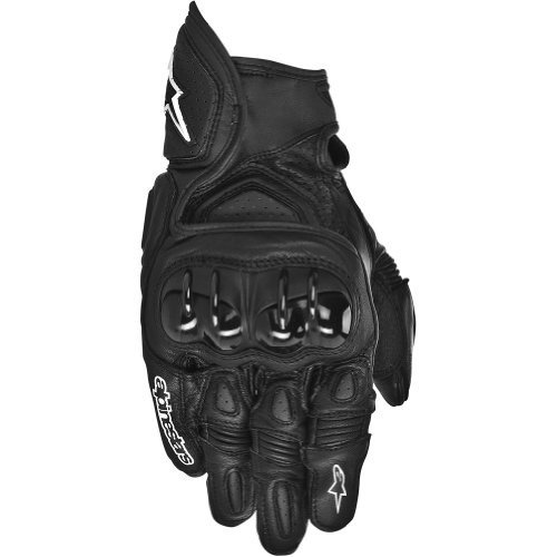 Street Bike Motorcycle Gloves (Alpinestars GPX Men's Leather Street Bike Motorcycle Gloves - Black / Large)