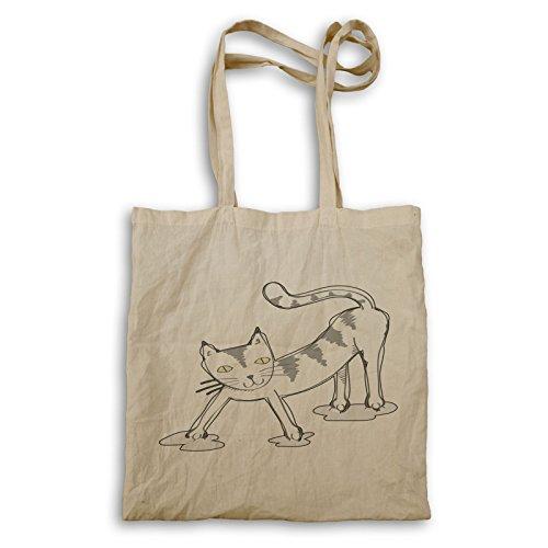 Lustige Süße Katze Spaß Tragetasche r670r