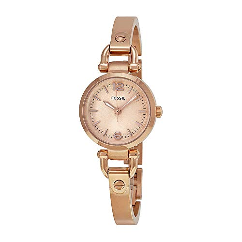 Stainless Fossil Womens Steel Bracelet (Fossil Women's ES3268 Georgia Rose Gold-Tone Stainless Steel Bangle Watch)