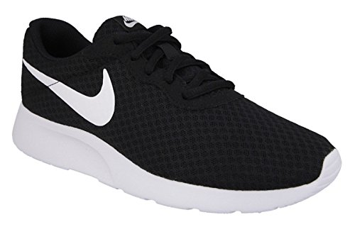 Nike Women's Tanjun Running Sneaker, Black/White 10 B(M) US