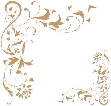 TODO-STENCIL Deco Vintage Composici/ón 033 Belle Epoque Medidas aproximadas Medida Exterior 20 x 20 cm Medida del dise/ño:14,5 x 17,4 cm