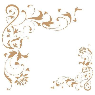 todo stencil stencil deco borders 027 corner filigree stencil size