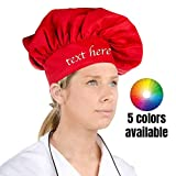 Personalized embroidered Chef Hat Custom Name - Size - Color - Font - Thread - Beautiful Makes a Great Gift, Kids, Child, Men, Women Adult - Premium quality Chef Hat with Embroidered any your own text