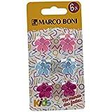 Prendedores De Cabelo Flower Embalagem Com 6 unidades, Marco Boni, Sortida