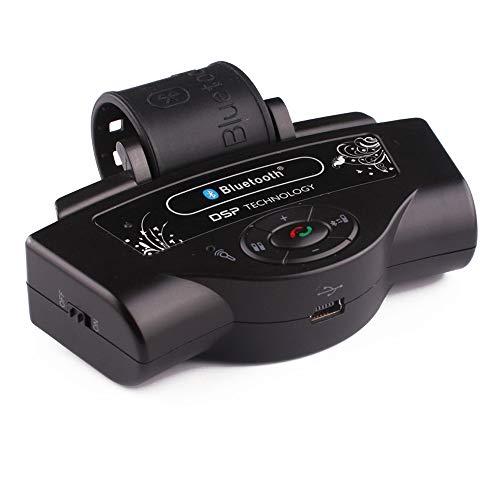 (Polarlander Portable Wireless Steering Wheel Handsfree Auto Bluetooth Receiver Car Kits Hands Free for Huawei Samsung Speakerphone)