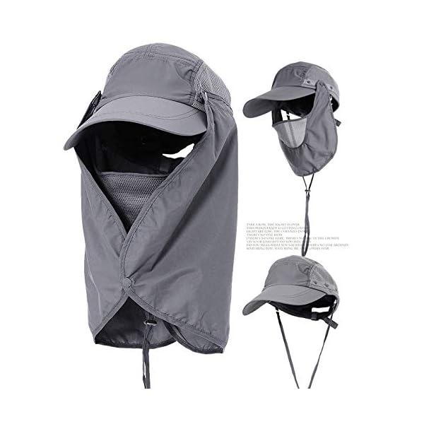 YUFUMAO Cappello Alpinismo Parasole per Protezione Solare Parasole Estraibile Berretto da Pesca Traspirante UV… 1 spesavip