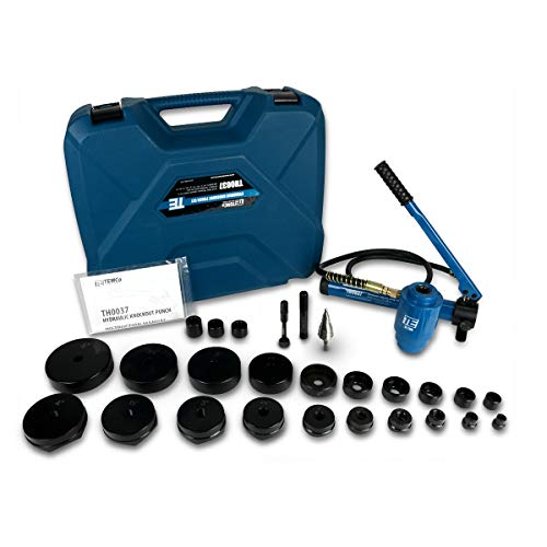 """TEMCo TH0037 4"""" HYDRAULIC KNOCKOUT PUNCH Electrical Conduit Hole Cutter Set KO Tool Kit 5 Year Warranty from TEMCo Industrial"""