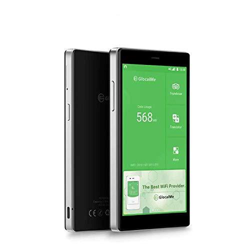 GlocalMe G4 pro 4G LTE Mobile Hotspot | International High Speed WiFi Hotspot with 1GB Global Data & 8GB US Data | SIM-Card Free | No Roaming Pocket MIFI Device - Black