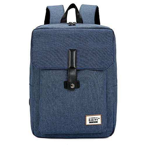 para mochila orificio Commuter para de capacidad Ligero hombres Diseño para Mochila Bolso negocios gran puerto USB multifunción para con popular Tsutou Bolso Antirrobo de Commut soporte auricular Blue para qXxZ4I8w