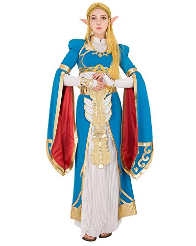 miccostumes Women's Princess Link Cosplay Costume Blue Outfit with Accessories ()