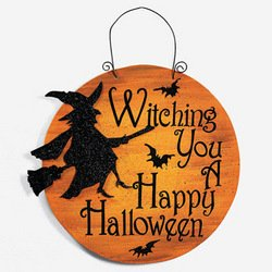Amazon.com : WITCHING YOU A HAPPY HALLOWEEN SIGN : Yard Signs ...