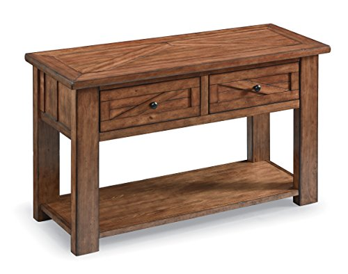 - Magnussen T3269-73 T3269 Harper Farm Rustic Rectangular Console Table in Warm Pine Finish