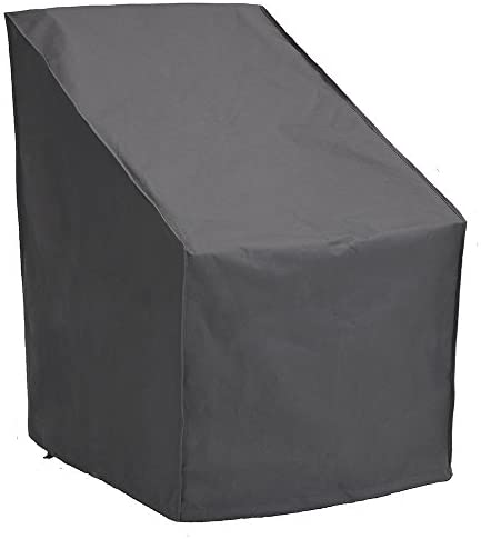 PATIO WATCHER High Back Patio Chair Cover, Durable and Waterproof Out Furniture Chair Cover,Grey